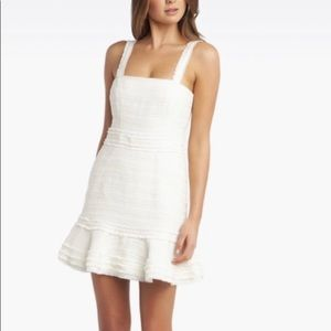 Bardot Melania Boucle Dress Ivory XXS zipper issue